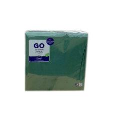 Szalvéta  DUNI, 2 Rtg., 1/4, Dark Green (40×40 Cm, 125db/csomag)