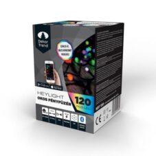 Okos Fényfüzér Dekortrend Heylight, 120 RGB LED, Fekete Kábel, 12 Méter
