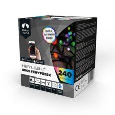 Okos Fényfüzér Dekortrend Heylight, 240 RGB LED, Fekete Kábel, 24 Méter