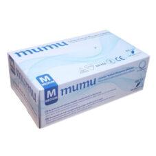 MUMU Egyszerhasználatos Latex Kesztyű Fehér, S,M,L 100 Db / Doboz, 20dob/karton