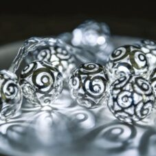 Androméda Fényfüzér, Hideg Fehér, átlátszó Kábel, 10 LED, 1 Méter